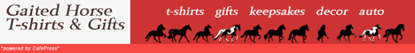 Gaited Horse T-shirts and Gifts at CafePress banner