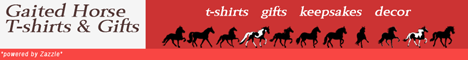 Gaited Horse T-shirts and Gifts at Zazzle banner